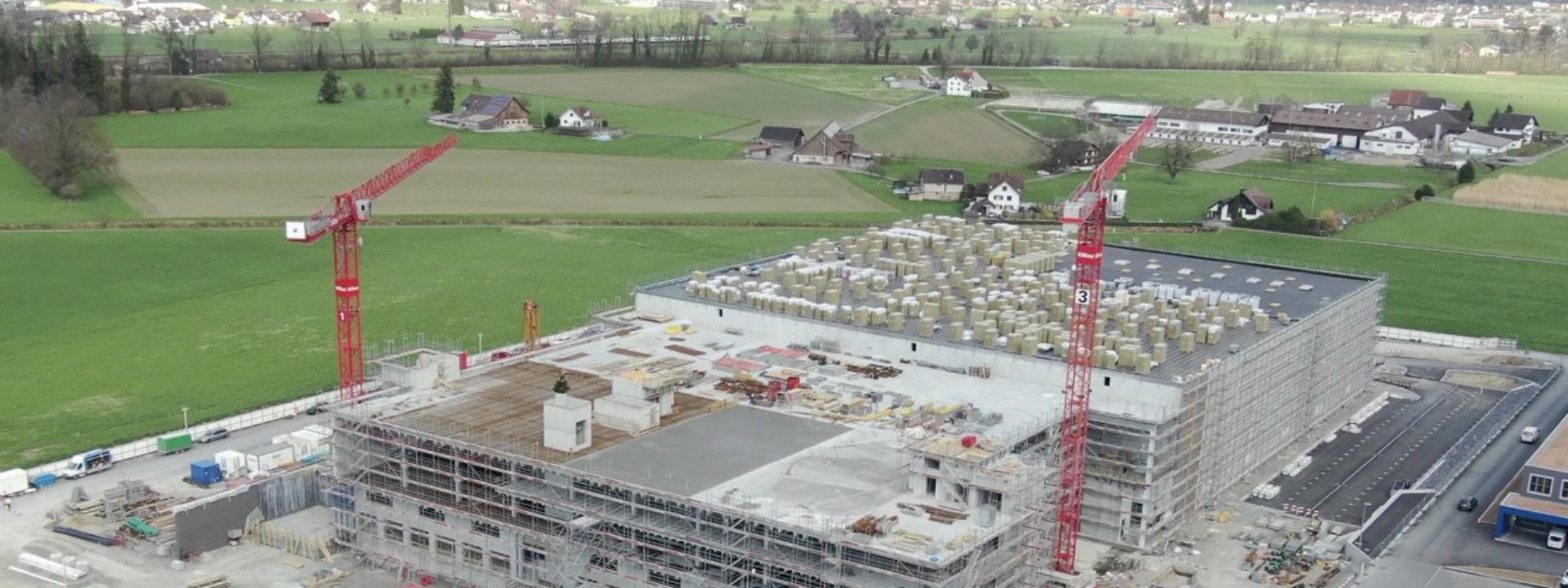 Baufortschritt bei Projekt Gesamtplanung Distributionszentrum für Estee Lauder