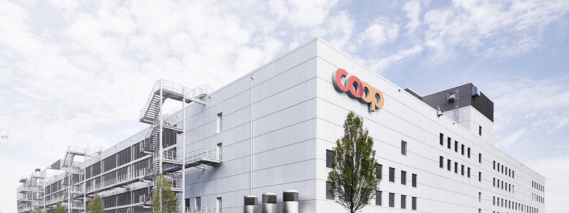 Aussenansicht vom Projekt mit Coop: Integrierte Grossbäckerei mit vertikalem Raumkonzept