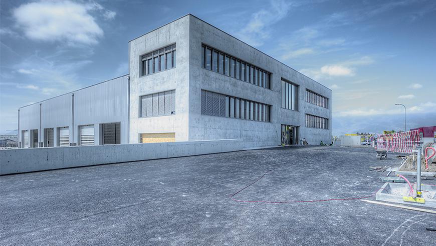 Bau- und Betriebsplanung eines neuen Gewerbebaus, Rampini Construction SA, Genf.
