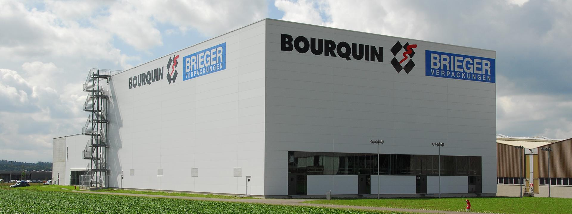 Header Aussenansicht des Hochregallagers für Bourquin
