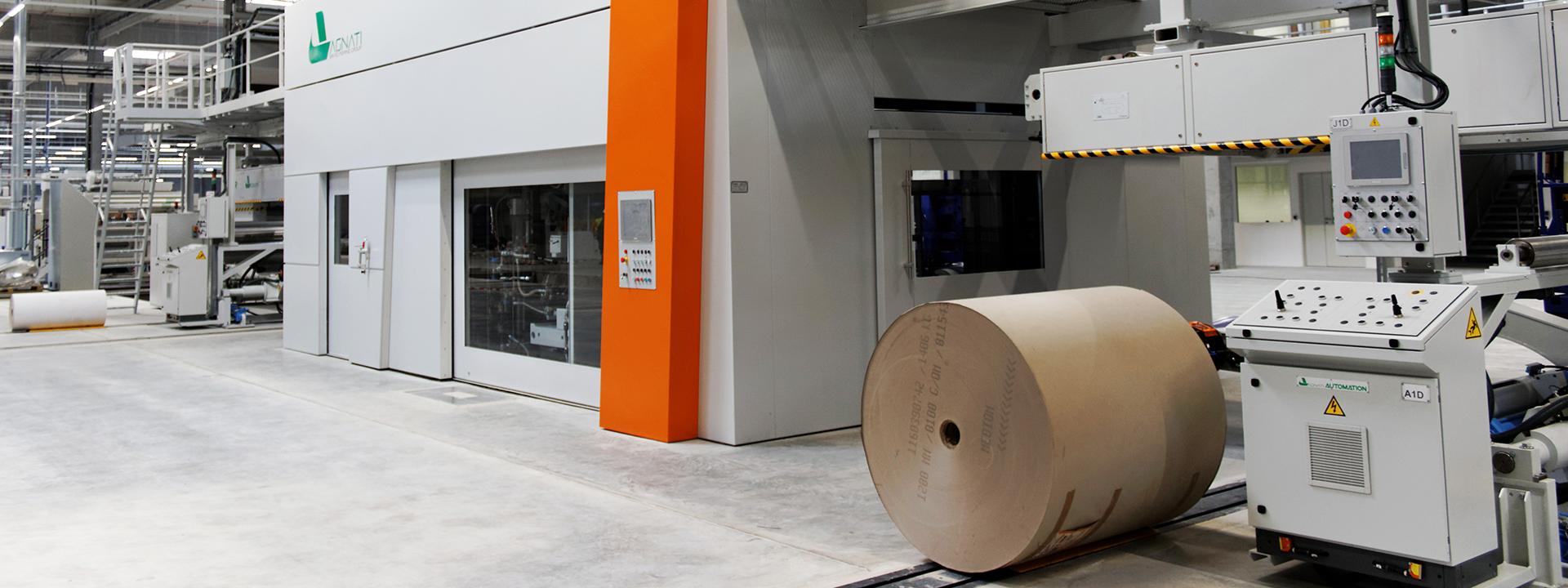 Innenansicht Fertigstellung des neuen Produktionsstandorts für Wellpappe für DS Smith