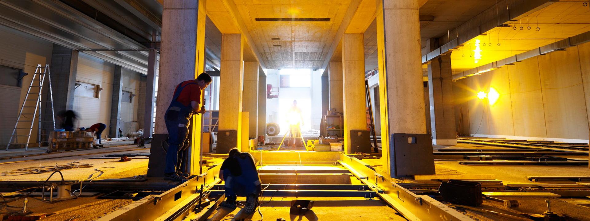 Baustelle des Neubaus einer neuen Zeitungsdruckerei für das Mittelbayerische Druckzentrum