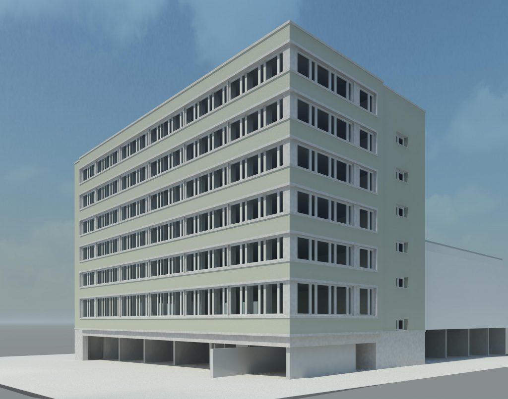 Ansicht des Umbaus des IE Standortes in Zürich