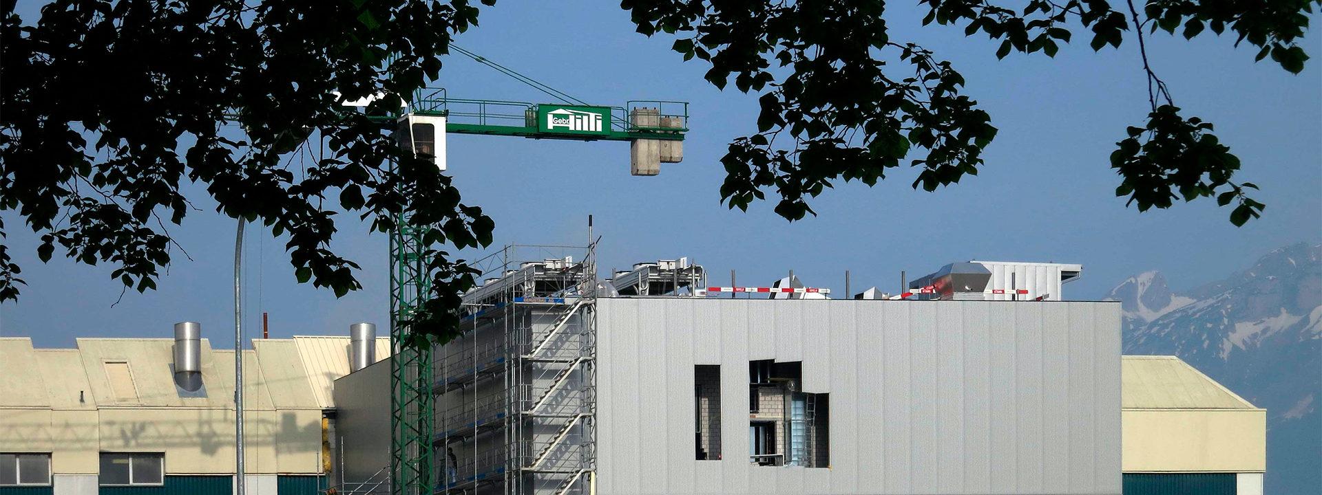 Außenansicht einer Baustelle der IE Group