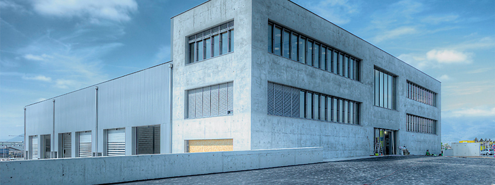 Außenansicht eines Bauprojekts der IE Group