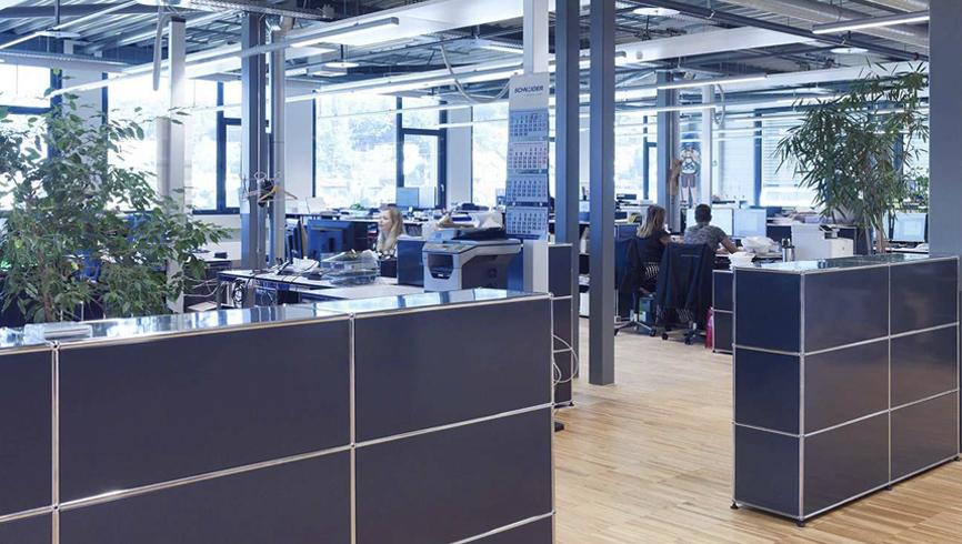 Realisation eines Büroneubaus für die Pacovis AG während laufendem Betrieb.