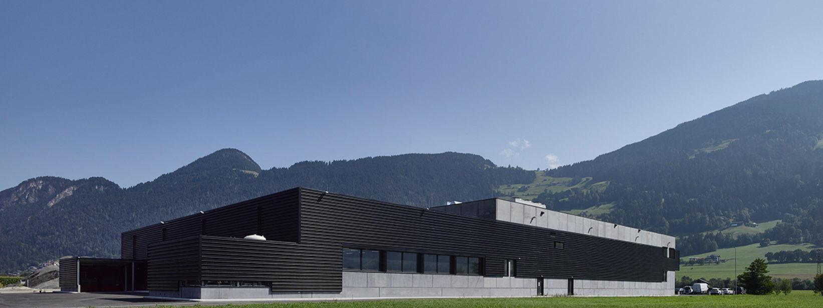 Außenansicht des Projekts bei Tirol Pack